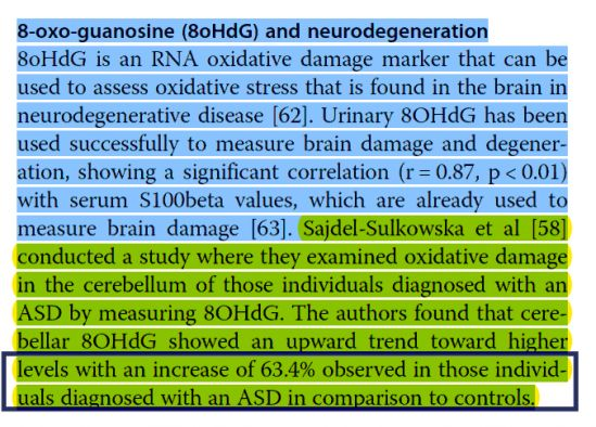 8-oxo-guanosine (8oHdG) and neurodegeneration: clinical case